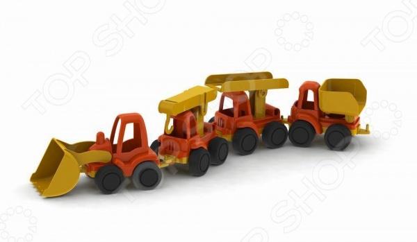 Набор машинок игрушечных Нордпласт «Строительная техника. Нордик» набор машинок игрушечных dickie 3745000