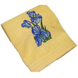 фото Полотенце подарочное с вышивкой TAC Iris. Цвет: желтый