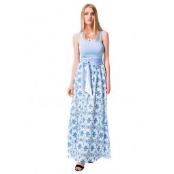 фото Платье Mondigo 6123. Цвет: голубой