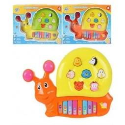 фото Орган игрушечный со светозвуковыми эффектами Shantou Gepai «Улитка» 223. В ассортименте
