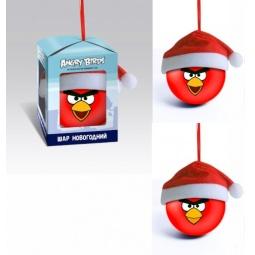 Купить Шар новогодний Снегурочка «Красная птица в новогоднем колпаке»