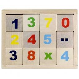 Купить Кубики обучающие Alatoys «Цифры» КБЦ1200