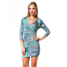 фото Платье Mondigo 8654. Цвет: бирюзовый. Размер одежды: 46