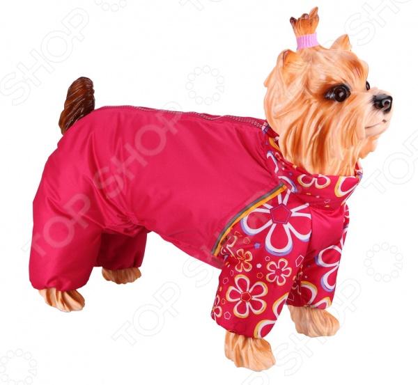 Комбинезон-дождевик для собак DEZZIE «Такса средняя». Цвет: красный
