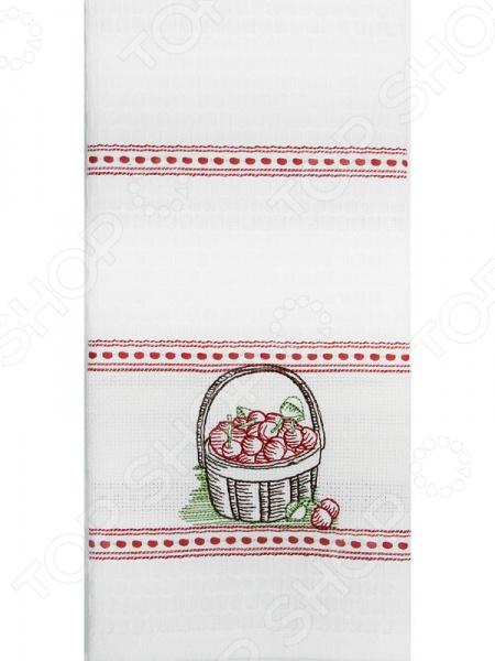 Полотенце вафельное BONITA «Вишня в корзине» 41 лилию в корзине