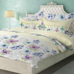фото Комплект постельного белья Волшебная ночь «Этюд». 2-спальный. Размер наволочки: 40х40 см — 2 шт, 50х70 см — 2 шт. Тип ткани: сатин-роял