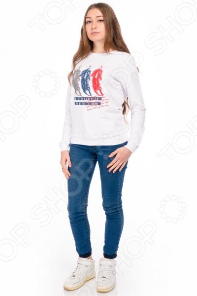 Толстовка женская RAV RAV02-008Лонгсливы. Толстовки<br>Толстовка женская RAV RAV02-008 модная вещь для активных женщин, любящих спортивный стиль. Изделие сшито из приятного хлопкового трикотажа футер. Особенность ткани в том, что ее лицевая сторона гладкая, а изнаночная с мягким теплым начесом. Натуральный материал хорошо пропускает воздух и позволяет коже дышать. Внимание, после стирки может дать усадку. Производитель рекомендует стирать толстовку при температуре не более 30 C .<br>