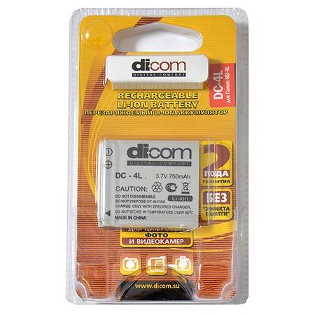Купить Аккумулятор для фотокамеры Dicom DC-4L