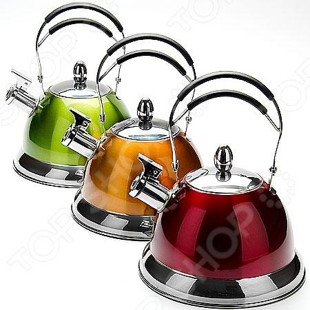 Чайник со свистком Mayer&amp;amp;Boch MB-23204. В ассортиментеЧайники со свистком и без свистка<br>Товар продается в ассортименте. Цвет изделия при комплектации заказа зависит от наличия цветового ассортимента товара на складе. Чайник со свистком Mayer Boch MB-23204 это объемный чайник на 3 л, который сделан из нержавеющей стали. На носик чайника можно прикрепить свисток. Ручка покрыта специальным материалом, оснащена специальным участком, за который удобно брать. Нержавеющая сталь обладает высокой устойчивостью к коррозии, не вступает в реакцию с холодными и горячими продуктами и полностью сохраняет вкусовые качества. Крышка выполнена в одном дизайне с чайником. Можно отметить следующие преимущества подобного чайника по сравнению с электрическими:  быстрый нагрев воды;  большой объем;  долговечность покрытия;  расходы на подогрев воды намного меньше;  гигиеничность, благодаря металлическому корпусу.<br>