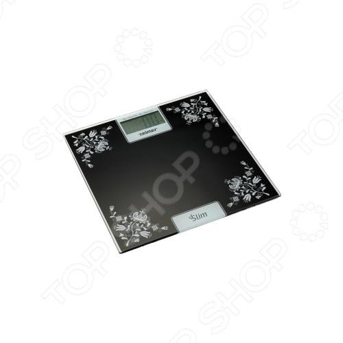 Весы ZELMER 34Z012LEВесы<br>Весы ZELMER 34Z012LE ультратонкие напольные весы, выполнены из высокопрочного стекла, что позволяет обеспечить ему максимальную противоударную защиту. Встроенные LCD дисплей с подстветкой, их электроника имеет четыре встроенных датчика, которые располагаются в разных углах весов. Такая конструкция позволяет делать максимально точные измерения даже в том случае, если нагрузка на сами весы подается неравномерно.<br>