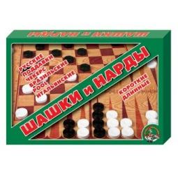 фото Набор для игры в шашки и нарды Десятое королевство 3221