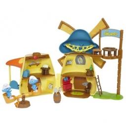Купить Детский набор Jakks Pacific «Домик-мельница и 2 смурфика»