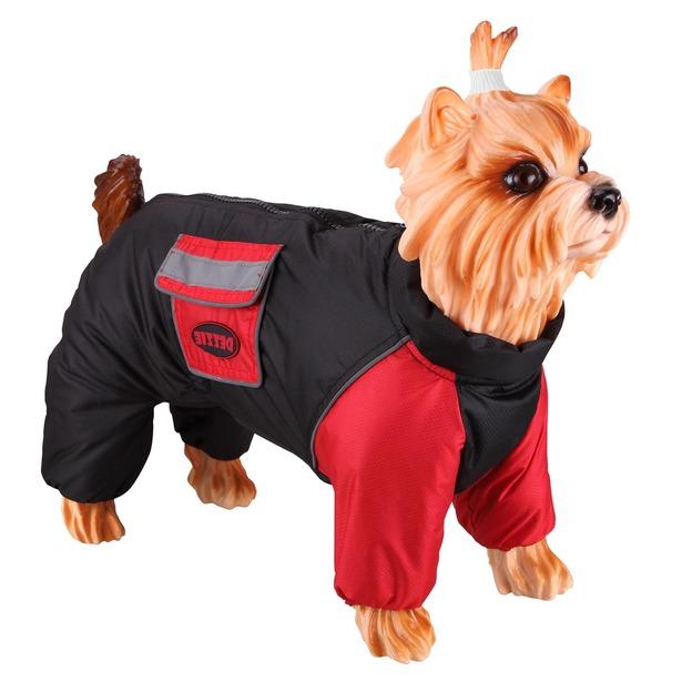 фото Комбинезон-дождевик для собак DEZZIE «Стаффордширский терьер». Материал подкладки: флис. Пол: кобель