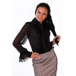 фото Блузка Mondigo 9632. Цвет: черный. Размер одежды: 44