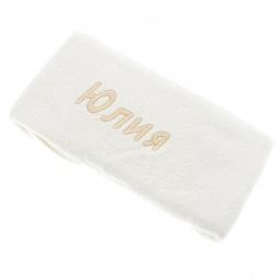 фото Полотенце подарочное с вышивкой TAC Юлия. Цвет: молочный
