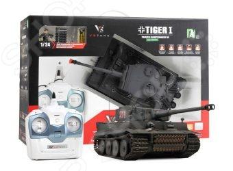 Танк на радиоуправлении VSP German Tiger IДругие радиоуправляемые игрушки<br>Танк на радиоуправлении VSP German Tiger I детально смоделированная копия настоящего танка. Ребенок сможет управлять им при помощи пульта радиоуправления с большим радиусом действия. Игрушка может двигаться: движение вперед и назад, повороты направо и налево. Вращается на 360 . Пушка тоже поворачивается. Игрушка оснащена реалистичными звуковыми эффектами. Игрушка изготовлена из высококачественного прочного материала и обладает хорошей детализацией, что сделает игровой процесс более увлекательным. Подойдет для игры как дома, так и на улице. Танк разнообразит игровые ситуации и откроет новые сюжеты для юного любителя военной техники. Боевая машина огневой поддержки выпущена известной компанией. Особенность танка в том, что на нем есть пневматическая пушка Airsoft . Особенности:  Выстрел 6мм пластмассовыми шариками есть в комплекте .  Сила выстрела 1.84 Дж.  Дальность выстрела 25 м.  Радиус действия пульта: 50 м  Имитация отдачи при выстреле.  Действующая подвеска.  Звуковые эффекты. Такой танк непременно найдет своё место как практичная игрушка для подростка, так и козырное место в коллекции.<br>