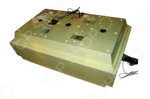 Инкубатор Олса-Сервис Золушка ИК 98 220В 12В А уникальное устройство для выведения цыплят, утят, гусят и других птенцов искусственным путем. Нагревательные элементы размещены так, что занимают максимально возможную площадь, что обеспечивает равномерное распределение тепла. Запатентованная конструкция нагревательных элементов позволяет работать инкубатору не только от электричества, но и от энергии горячей воды.  Условия процесса инкубации максимально приближены к естественным, поэтому при закладке здоровых яиц можно ожидать успешность выводимости до 100 .  Работает от сети 220 В или от аккумулятора.  Корпус изготовлен из пенополистирола. Данный материал обеспечивает прибору оптимальные термодинамические свойства.  Автоматический поворот яиц.