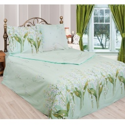фото Комплект постельного белья Сова и Жаворонок «Ландыши» 19049/1. 1,5-спальный. Размер наволочки: 70х70 см — 2 шт