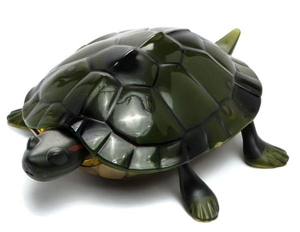 Игрушка радиоуправляемая Shantou Gepai «Черепаха»Другие радиоуправляемые игрушки<br>Игрушка радиоуправляемая Shantou Gepai Черепаха оригинальная игрушка в виде небольшой черепашки, которая управляется с помощью пульта ДУ. Имеет реалистичную детализацию, которая понравится каждому ребенку. Такая игрушка позволит придумать множество интересных и веселых ловушек и позабавить себя и родных. Компактные размеры позволят брать игрушку в любую поездку. Если ваш ребенок мечтает о питомце, то робот-черепаха станет прекрасным подарком.<br>