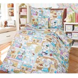 фото Ясельный комплект постельного белья Бамбино «Зайкин город»