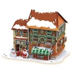 фото Пазл 3D CubicFun с подсветкой «Рождественский домик 4»