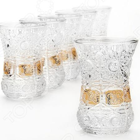 Набор стаканов Loraine LR-24678Стаканы<br>Loraine LR-24678 это стильный, модный и очень яркий набор стаканов для подачи горячих и холодных напитков. Стаканы изготовлены из высококачественного стекла и украшены необычным цветочным узором. Оригинальный дизайн, уникальная форма, прозрачные стенки и материалы, которые были использованы мастерами компании Loraine, придают набору невероятную эксклюзивность и эстетичность. Стаканы подойдут для повседневного использования как в домашних условиях, так и в местах общественного питания кафе, бары, рестораны . Устойчивость каждого изделия на поверхности стола гарантирует широкое основание. Набор стаканов Loraine LR-24678 является отличным подарком друзьям, родным и близким. В наборе 6 предметов.<br>