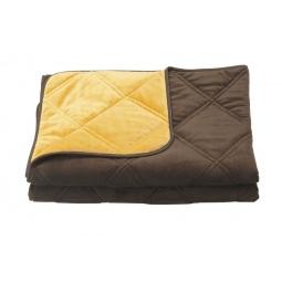 фото Одеяло декоративное Dormeo Trend Blanket. Размер: 200х200 см. Цвет: шоколадный, оранжевый