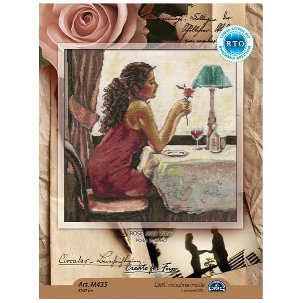 фото Набор для вышивания RTO «Роза и вино»