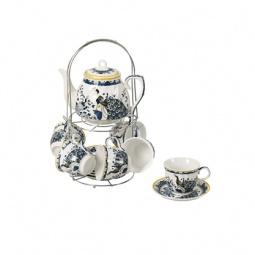 фото Чайный набор на подставке Grazie «Павлин» с чайником