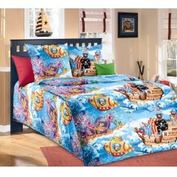 Купить Комплект постельного белья ТексДизайн «Пираты». 1,5-спальный