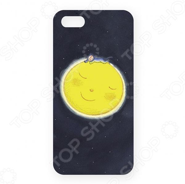 Чехол для iPhone 5 Mitya Veselkov «Мальчик спит на Луне» цена