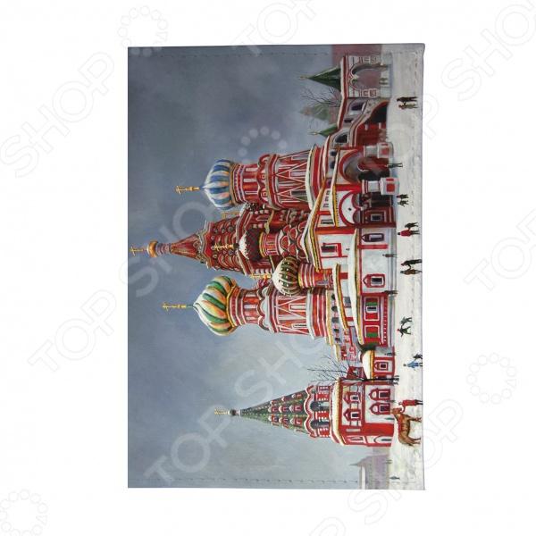 Визитница Mitya Veselkov «Храм Василия Блаженного» майка классическая printio храм василия блаженного