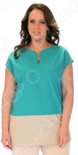 Блузка Milana Style «Лот 1020». Цвет: изумрудныйБлузы. Рубашки<br>Блузка Milana Style Лот 1020 это легкая и нежная блуза, которая поможет вам создавать невероятные образы, всегда оставаясь женственной и утонченной. Благодаря отличному дизайну она скроет недостатки фигуры и подчеркнет достоинства. Блуза прекрасно смотрится с брюками и юбками, а насыщенный цвет привлекает взгляд. В этой блузе вы будете чувствовать себя блистательно как на работе, так и на вечерней прогулке по городу. Универсальная длина делает блузу одеждой на все случаи жизни, а удобные рукава скрывают полноту рук. Круглый вырез горловины и небольшим вырезом, визуально удлинит горло и подчеркнет плавность черт. Нижний край блузки выполнен из бежевой ткани, чтобы отвлечь внимание от несовершенности фигуры. Блузка выполнена из мягкой ткани лен 60 , ПАН 40 , благодаря чему материал не скатывается и не линяет после стирки. Лен в составе позволяет ткани дышать , модели из льна всегда смотрятся актуально, модно и современно.<br>