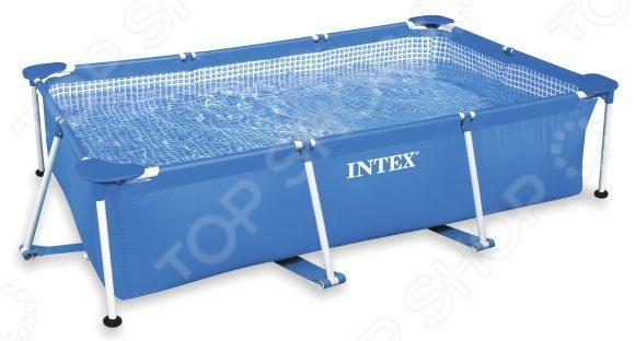 Бассейн каркасный Intex прямоугольный бассейн каркасный с аксессуарами intex с28218