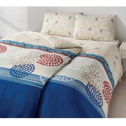фото Комплект постельного белья TAC Emma. Семейный. Цвет: голубой