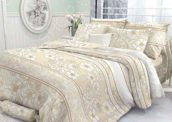 Комплект постельного белья Verossa Constante Sharm. ЕвроЕвро<br>Здоровый и комфортный сон зависит не только от того насколько ваш матрас и подушка мягкие и удобные, но и, не в последнюю очередь, от того на каком постельном белье вы спите ежедневно. Очень важно при выборе постельного белья ориентироваться не только на его цену и яркий дизайн, но и на качество, и тонкость материала. Жесткие и плотные ткани, пусть даже и натуральные, не подходят для ежедневного использования, ведь они могут причинить коже удивительный дискомфорт, вызвав её покраснения и раздражения. Комплект постельного белья Verossa Constante Sharm относится к постельному белью перкалевой группы, которая является идеальным решением для повседневного использования. При производстве этого материала плотного полотняного переплетения, используются некрученые плотные и тонкие нити из длинноволокнистого хлопка. Их сочетание делает перкаль одновременно тонким и прочным. Поэтому в отличии от постельного белья произведенного из бязи, данный комплект будет более гладким, мягким и шелковистым на ощупь. На таком постельном белье не будут возникать катышки, которые делают его не только не привлекательным, но и очень неудобным. Преимущества постельного белья Verossa Constante Sharm:  натуральность и экологичность материалов;  долговечность, прочность и износостойкость белья;  легкий и комфортный сон в любой сезон;  приемлемая цена. Другой особенностью комплекта постельного белья Verossa Constante Sharm является стильный и современный дизайн, который придется по вкусу даже самым взыскательным ценителям стиля, красоты и практичности. Элегантный цветочный принт будет достойным украшением уютного интерьера вашей спальни. Он привнесет в него стиля и современности. Рисунок не будет терять своей яркости и точности даже после многочисленных стирок и использования.<br>