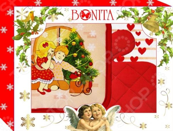 Комплект кухонный подарочный BONITA «С новым годом!» чай шар подарочный с новым годом и рождеством 60гр купаж черн и зел цейло