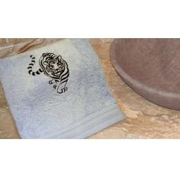 фото Полотенце подарочное с вышивкой TAC Tiger. Цвет: голубой