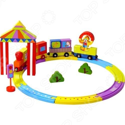 Конструктор деревянный Toys Lab «Цирковой поезд» toys lab летний домик toys lab тойз лаб