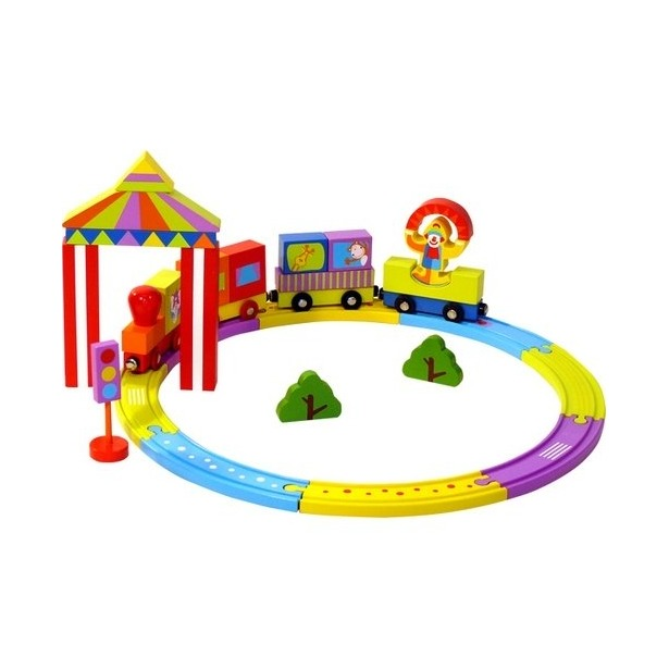 фото Конструктор деревянный Toys Lab «Цирковой поезд»
