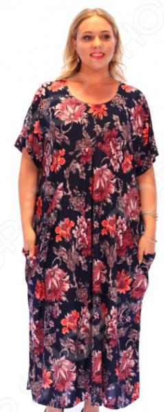 Платье Матекс «Цветочное счастье». Цвет: красныйПовседневные платья<br>Платье Матекс Цветочное счастье это стильное платье, которое поможет вам создавать невероятные образы, всегда оставаясь женственной и утонченной. Благодаря полуприталенному силуэту оно скроет недостатки фигуры и подчеркнет достоинства. В этом платье вы будете чувствовать себя блистательно как на работе, так и на вечерней прогулке по городу. Универсальная длина до щиколотки и завышенная талия делают платье одеждой на все случаи жизни, а короткие рукава скрывают полноту руки обеспечивают комфорт в течении всего дня. По бокам 2 небольших кармана, линия талии подчеркнута фигурной вставкой. В комплекте есть пояс из того же материала, что и платье, который поможет подчеркнуть женственный силуэт. Платье изготовлено из плотной ткани 100 полиэстер , благодаря чему материал не скатывается и не линяет после стирки. Даже после длительных стирок и использования платье будет выглядеть прекрасно.<br>
