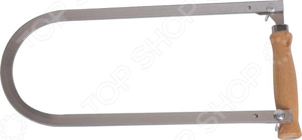 Лобзик ручной Archimedes 90681Лобзики. Ножовки. Пилы<br>Лобзик ручной Archimedes 90681 инструмент, используемый для реза и фигурного распила заготовок из древесины, ДСП, ДВП, а также плинтусов и ламината. Рабочая часть изделия представлена прочной стальной рамой, обеспечивающей длительный срок службы инструмента и повышающей эффективность его использования. Эргономичная рукоятка лобзика выполнена из древесины. Инструмент рассчитан под полотно длиной 150 мм и шириной 3 мм в комплекте полотно отсутствует .<br>