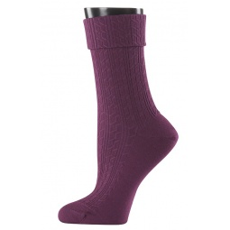 фото Носки женские Teller Wool Knit. Цвет: бордовый. Размер: 39-41