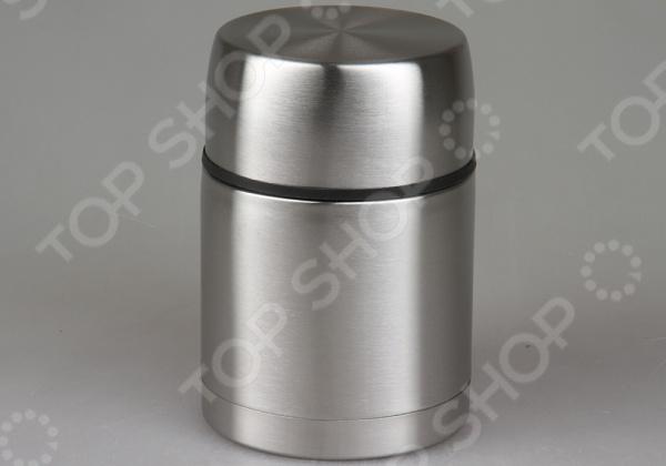 Термос Rosenberg 99504-QТермосы и термокружки<br>Термос Rosenberg практичный и удобный термос с широкой горловиной. Применение термоса универсально и позволяет сохранить тепло содержимого в течение дня. Выполнен из качественной нержавеющей стали. Верхняя крышка закручивается герметично и имеет дополнительную функцию чаши для содержимого. Такая модель термоса позволит брать с собой еду на работу или в дорогу. Легко очищается под проточной водой и не сохраняет посторонних запахов.<br>