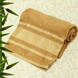 фото Полотенце махровое Mariposa Tropics l.brown. Размер полотенца: 70х140 см