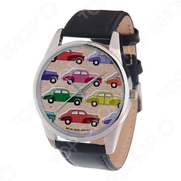 Часы наручные Mitya Veselkov «Цветные машинки» MV часы наручные mitya veselkov цветные бабочки mv