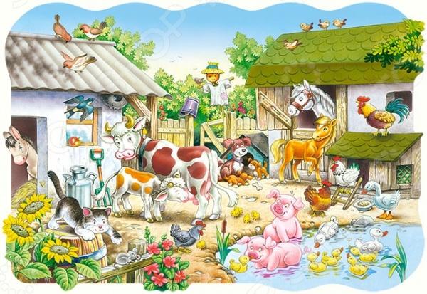 Пазл 20 элементов Castorland «Ферма»Пазлы (2–30 элементов)<br>Пазл 20 элементов Castorland Ферма это красочный пазл, который позволит вашему ребенку создать прекрасную картину, а так же развлечет всю семью. Соберите этот шедевр и вы сможете украсить им стену, закрепить на столе, либо на любой другой поверхности. Пазлы изготавливаются из качественного и безопасного материала, вы сможете собирать его вместе с детьми. Игра отлично развивает мелкую моторику пальцев, логику и пространственное мышление.<br>
