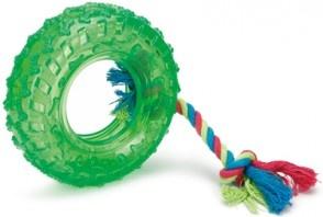 Игрушка для собак Beeztees «Авто-покрышка на веревке»