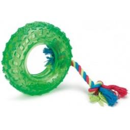 фото Игрушка для собак Beeztees «Авто-покрышка на веревке»