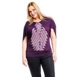 фото Кофта Mondigo XL 8510. Цвет: баклажановый. Размер одежды: 48